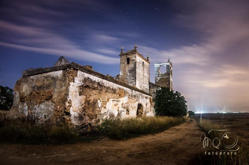 fotografía nocturna de la hacienda Mejorada Baja