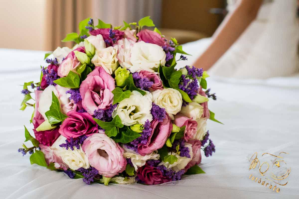 Ramo de la novia de color rosa de Floristería Urbión