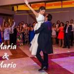 María y Mario en su baile nupcial en su boda en el Corpus Christi de Sevilla