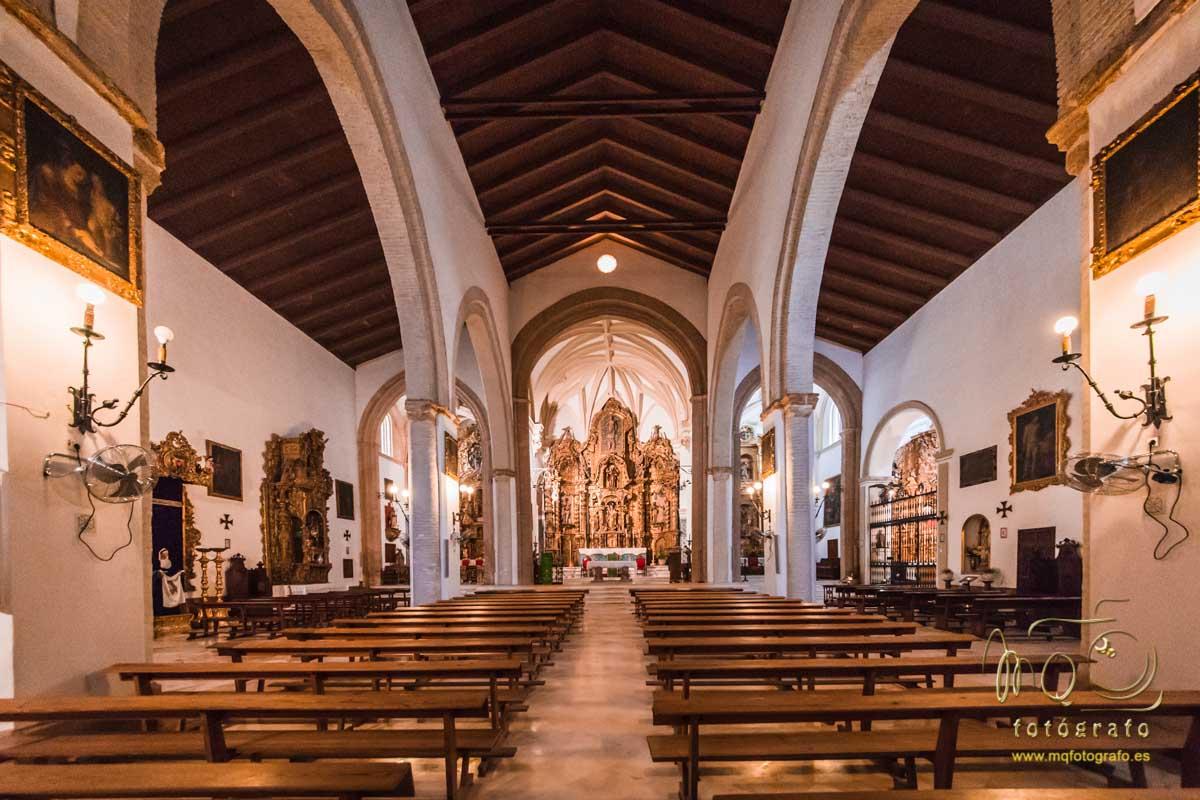 interior de la iglesia de san bartolomé, Carmona