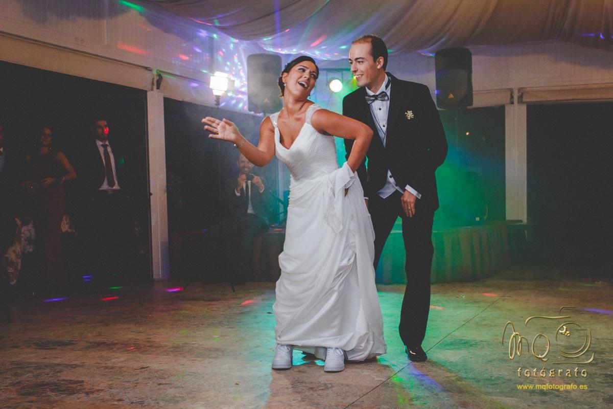 baile de novios en la hacienda Azahares